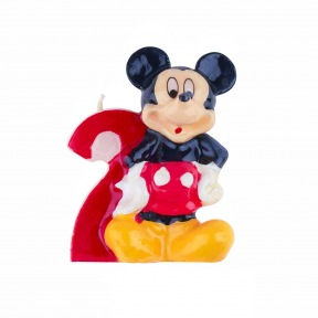 Bougie Chiffre N°2 - Mickey ~ 8 cm