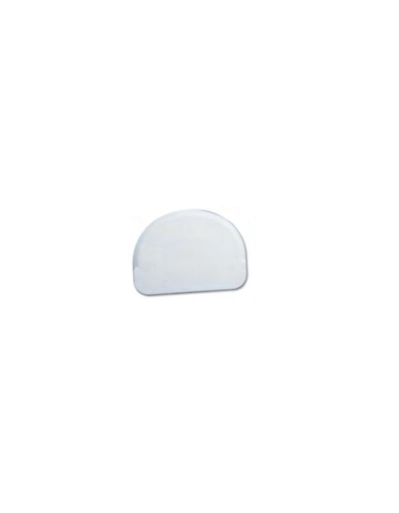 Raclette Demi-Rond Rigide Polypropylène ~ 12 x 9 cm