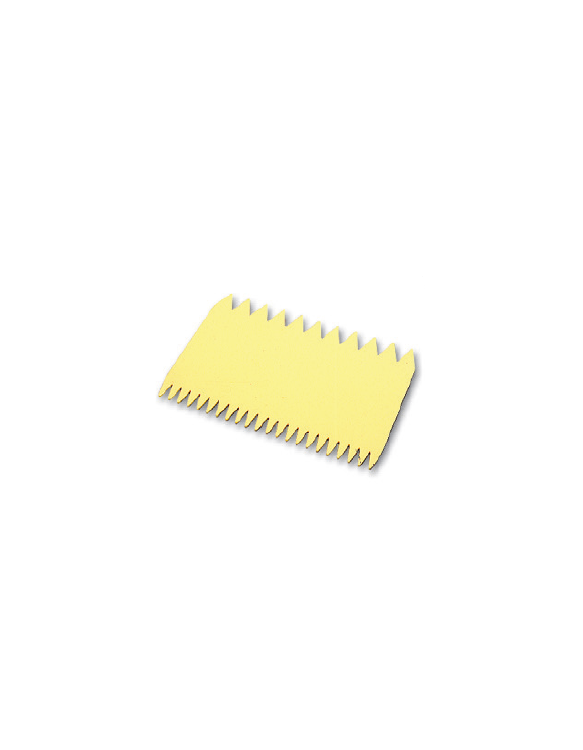 Peigne à Décorer 2 Côtés Polypropylène ~ 11 x 7,5 cm
