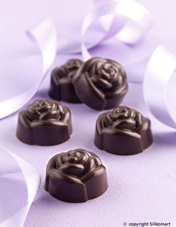 Moules à Chocolat Silicone 15 Roses