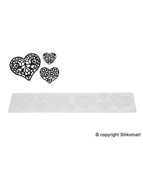 "Tapis Texture Tricot ""Hearts"" ~ 40 cm"