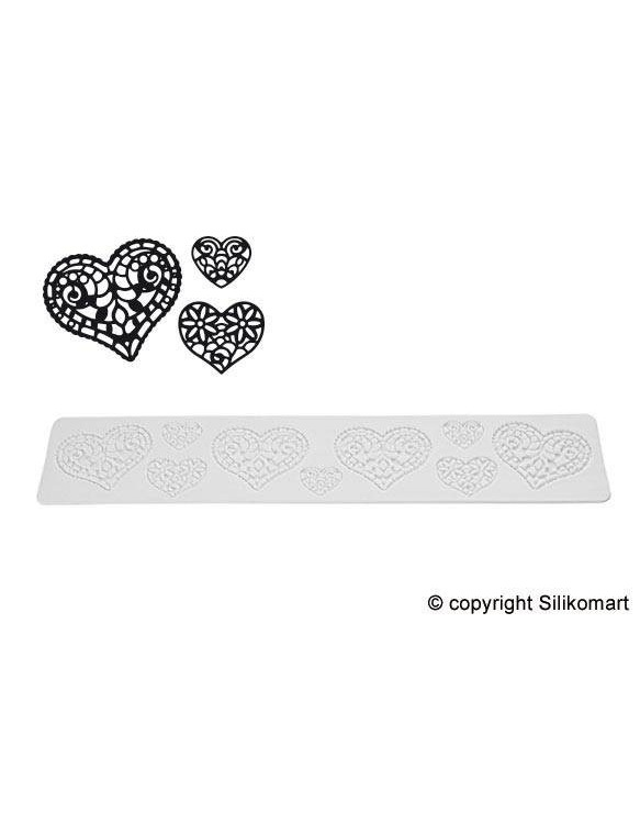 "Tapis Texture Tricot ""Hearts"" ~ 40 cm"