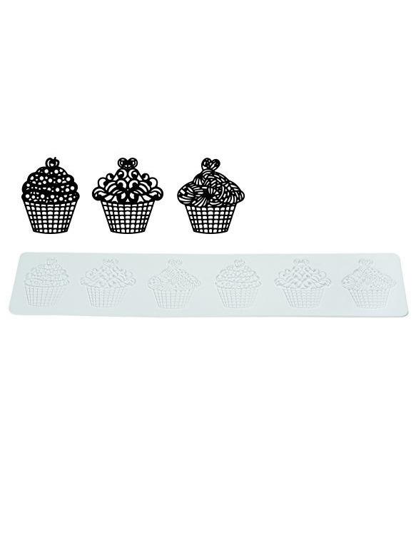 "Tapis Texture Tricot ""Cupcake"" ~ 40 cm"