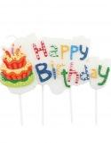 """Bougie Anniversaire """" Happy Birthday""""  ~ 8 cm"""