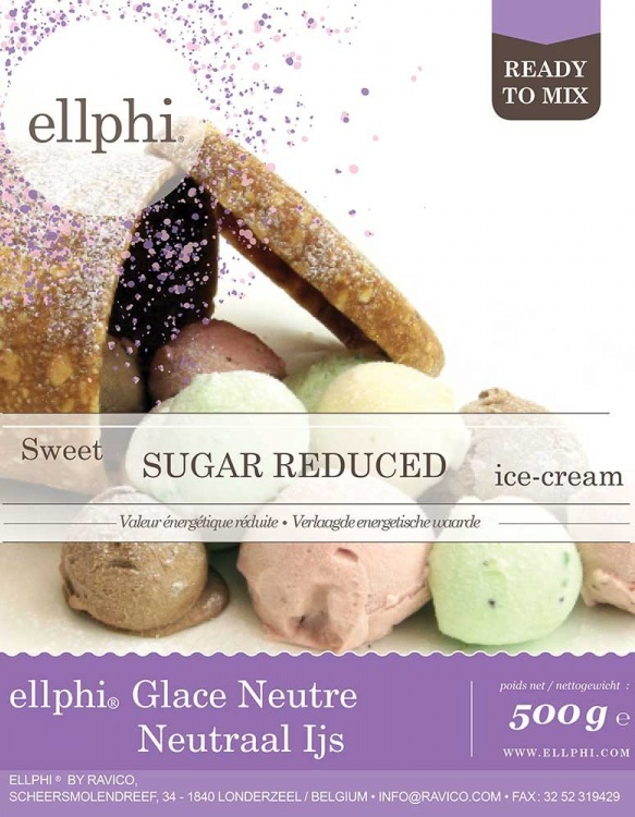 Mix Glace Neutre Faible en Sucre ellphi 500g