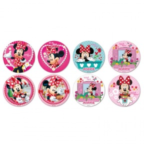Disques Comestibles Minnie Mouse x 16 ~ 3,4 cm