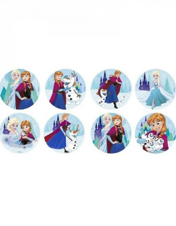 Disques Comestibles Mickey Mouse x 16 ~ 3,4 cm