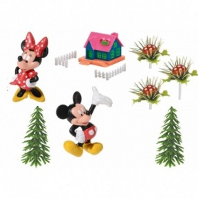 Kit Figurines Mickey Minnie Mouse Maison