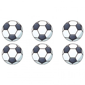 Disques Comestibles Ballon de Football x 16 ~ 3,4 cm (RUPTURE)