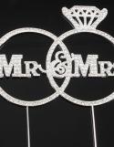 Cake Topper Mariage Mr & Mrs Strasses ~ 15 cm