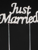 Cake Topper Mariage Just Married ~ 10 cm