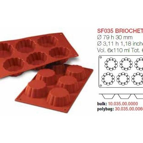 Moule en silicone briochette