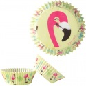 Caissettes Cupcakes flamands roses