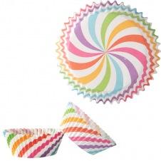 Caissettes Cupcakes multicolores