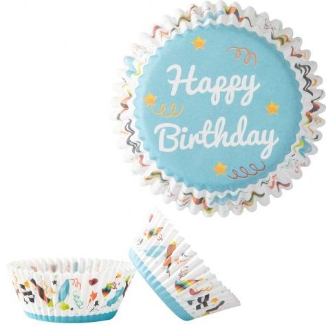 Caissettes Cupcakes Happy Birthday