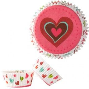 Caissettes Cupcakes avec coeurs