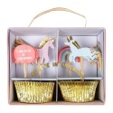 Kit cupcakes Licorne 24p + toppers