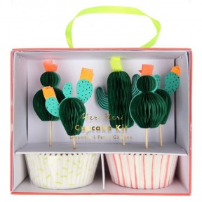 Kit cupcakes Cactus + toppers