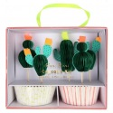 Kit cupcakes Cactus 24p + toppers