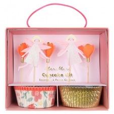 Kit cupcakes Fées et fleurs + toppers