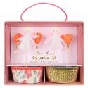 Kit cupcakes Fées et fleurs 24 p + toppers