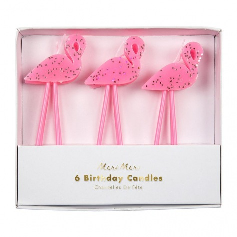 Bougies Flamants roses 6p