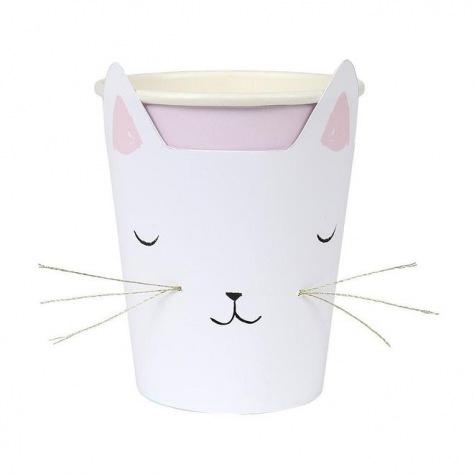 Gobelet chat carton 8p