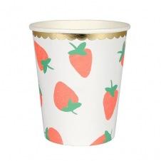 Gobelets fraise carton 8p