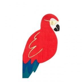 Serviettes perroquet 16 p