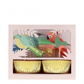 Kit cupcakes Tropical 24 p + toppers