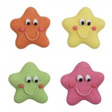 Décorations étoiles multicolores en sucre
