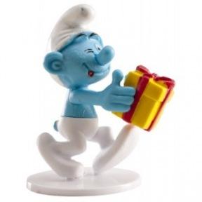Figurine Schtroumpf avec cadeau