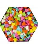 Confetti en Coeurs Colorés