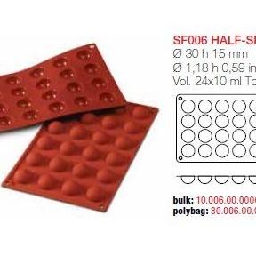 Moule en Silicone 24 Demi Sphères Ø 3 cm