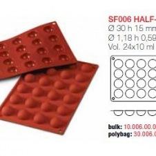 Moule en Silicone Silikomart 24 Demi Sphères Ø 3 cm