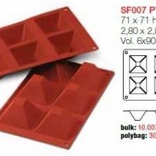 Moule en Silicone Silikomart 6 Pyramides ~ 7 cm