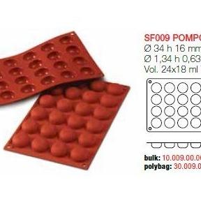 Moule en Silicone 24 Pomponnetes Ø 3,4 cm
