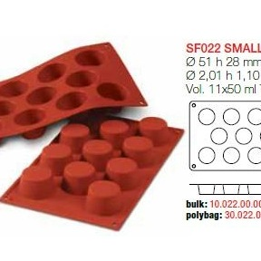 Moule en Silicone 11 Petits Muffins Ø 5,1 cm