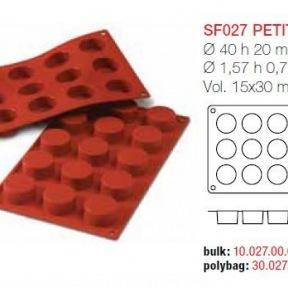 Moule en Silicone 15 Petits Fours Ø 4,9 cm