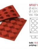 Moule en Silicone 15 Petits Fours  Silikomart