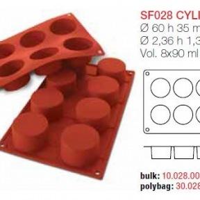 Moule en Silicone 8 Cylindres Ø 6 cm