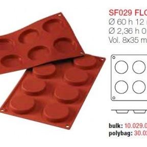 Moule en Silicone 8 Florentines Ø 6 cm