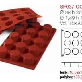 Moule en Silicone 15 Octogones Ø 3,8 cm