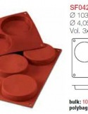 Moule en Silicone 3 Base Pour Biscuit  Silikomart