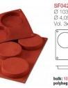 Moule en Silicone 3 Base Pour Biscuit Ø 10,3 cm
