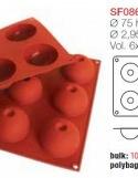 Moule en Silicone 6 Dômes Ø 7,5 cm