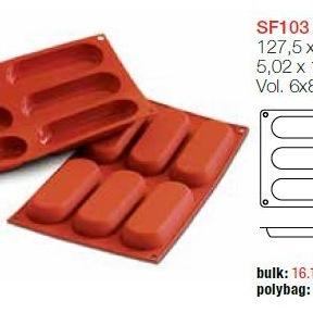 Moule en Silicone 6 Savoiardo ~ 12,7 cm