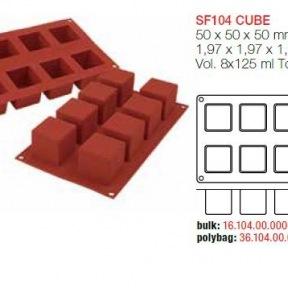 Moule en Silicone 8 Grands Cubes Silikomart