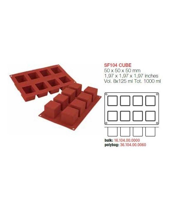 Moule en Silicone 8 Grands Cubes ~ 5 cm