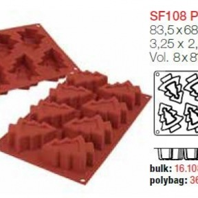 Moule en Silicone 8 Sapins ~ 8,3 cm